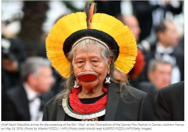 Brazil Indigenous chief Raoni tests positive for coronavirus.The Raven Institute said Monday