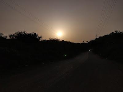 the sunset at ananta resort