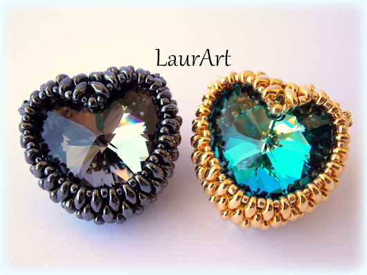 LaurArt - handmade Jewelry: INCASTONATURA CUORE SWAROVSKI DA 28 MM | TUTORIAL | DIY | HOW TO BEZEL HEART
