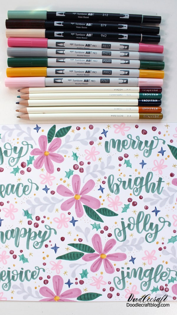 Use all the supplies to add fun details to the entire page. Place a piece of scrap paper underneath so you can get right to the edge of the paper.