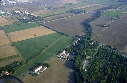 vista dell'area archeologica di claterna