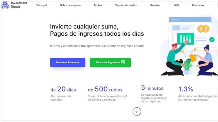 >Invest-Status перевел сайт на новый язык