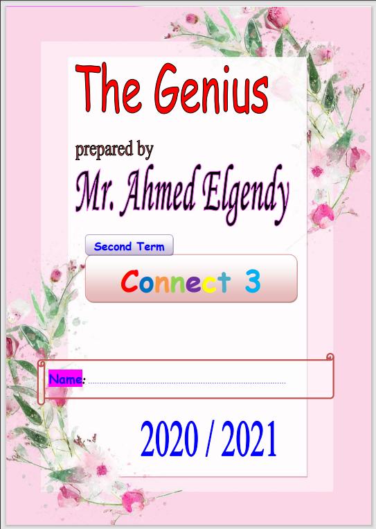 مذكرة انجليزى connect 3  للصف الثالث الإبتدائى الترم الثانى2021 مسترأحمد الجندى
