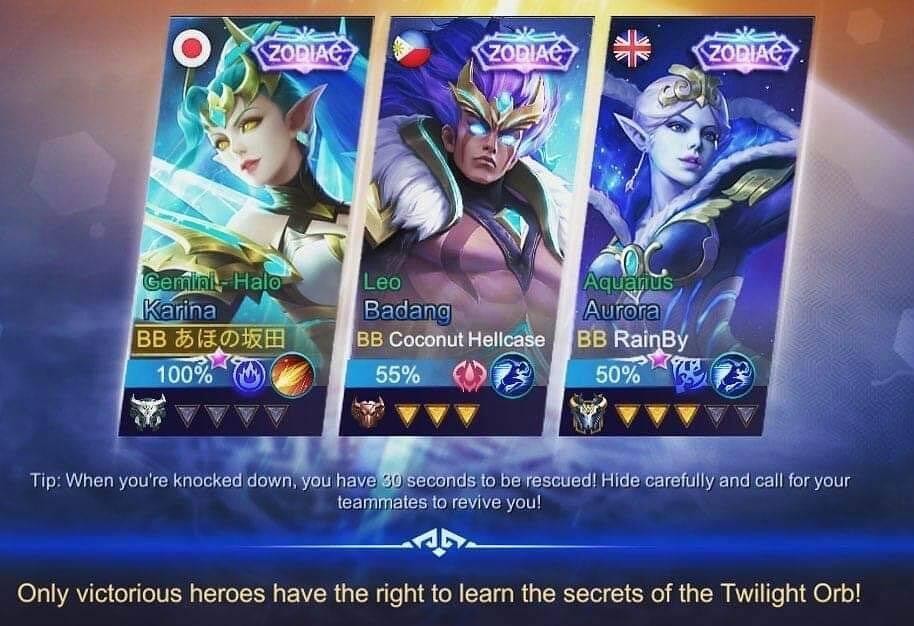 dapat skin zodiac mobile legends terbaru