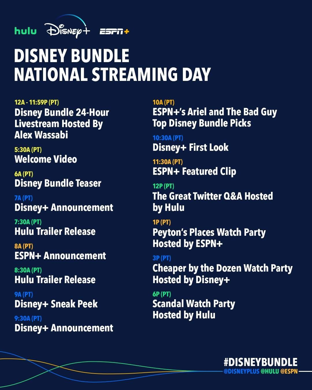 Disney Plus Schedule every day