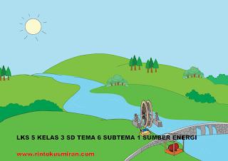 LKS 5 KELAS 3 SD TEMA 6 SUBTEMA 1 SUMBER ENERGI