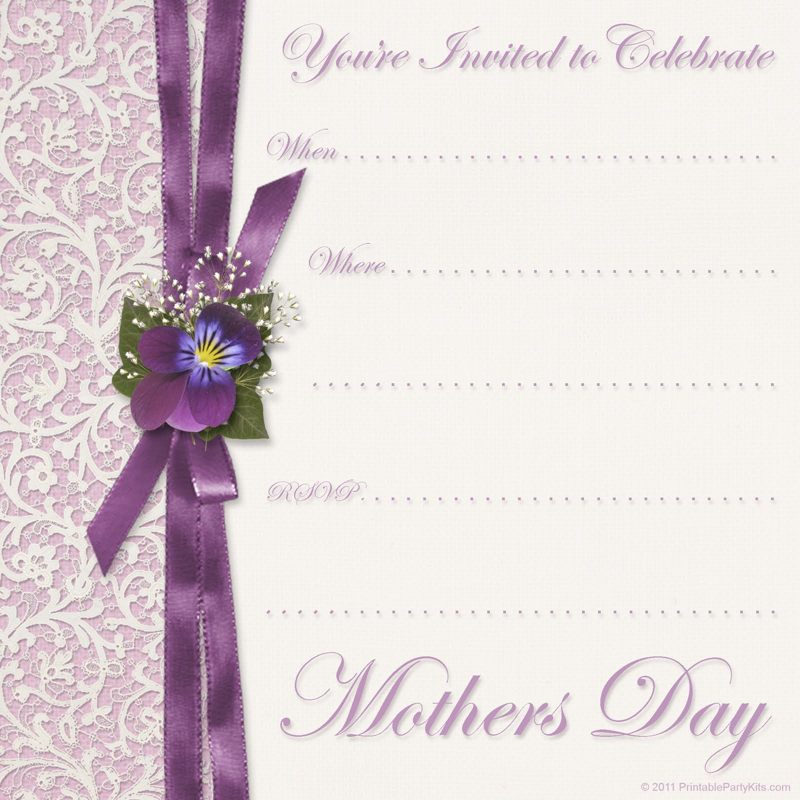 click on the free printable mother s day invitation template to see it