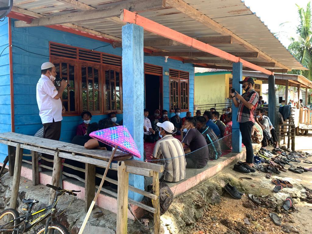 Polsek Singkep Barat Lakukan Pengamanan Kampanye dan Himbauan Protokol Kesehatan
