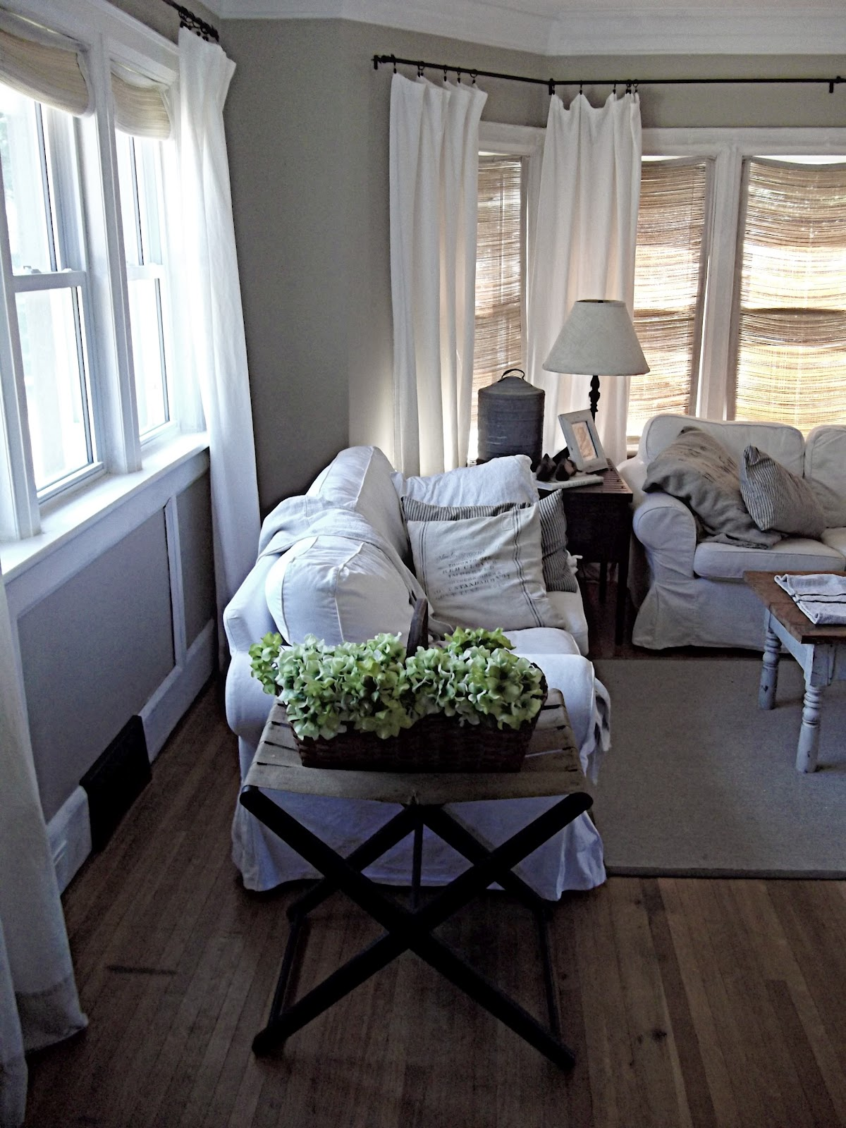 Rustic farmhouse comforts of home - Farmhouse curtains for living room ...