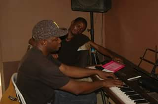 Pastor John Olatunji and Bankole on the keys