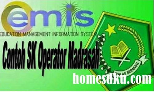 Contoh SK Operator MI MTs MA Terbaru