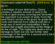 naruto castle defense 6.0 Quicksand waterfall flow detail