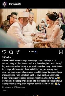 Mario Klau menikah