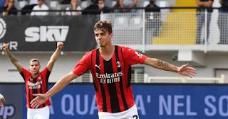 انتصر ميلان على مضيفه سبيزيا 2-1 في الجولة السادسة من الدوري الإيطالي ظهر اليوم السبت.