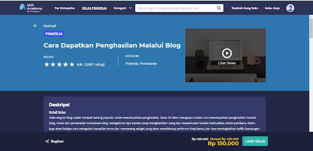 kelas blog  skill academy by ruangguru