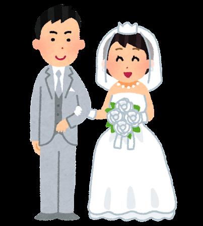 新郎新婦・花嫁花婿のイラスト