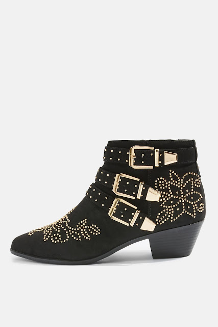 TOPSHOP KOWBOY Studded Western Boots AW17