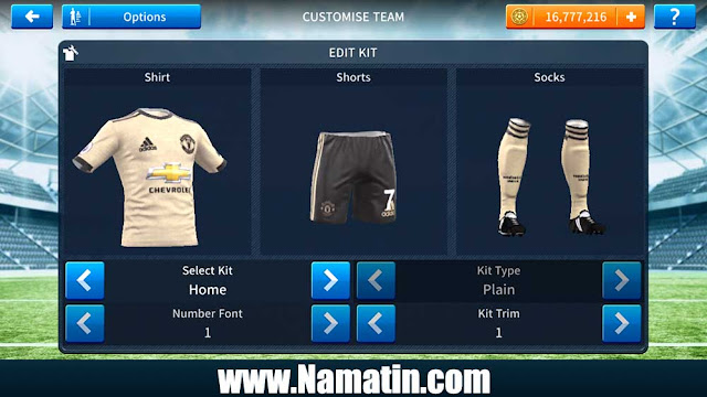 Baju Dream League Soccer Manchester United Away