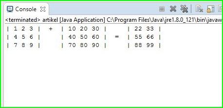 Program Java - Penjumlahan Matriks Menggunakan For Dan If