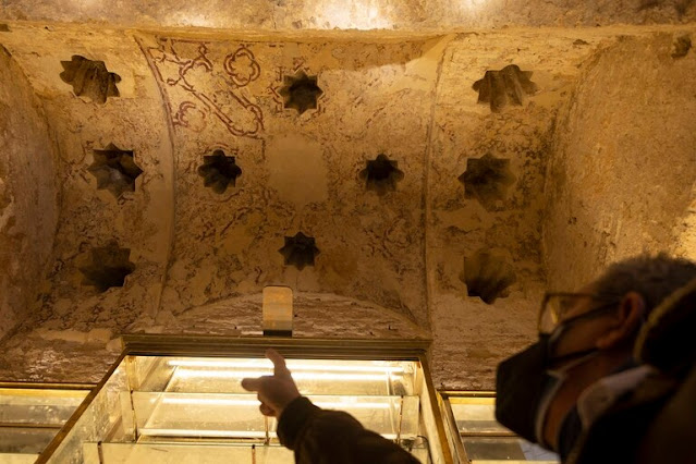 Twelfth-century Islamic bathhouse uncovered in Spanish bar
