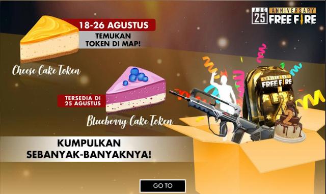 Cara Mendapatkan Token Cheese Cake Event 2nd Anniversary Free Fire