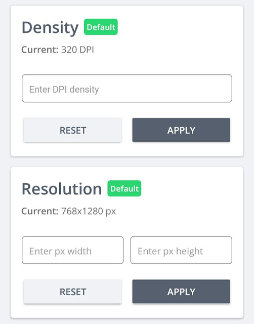 Change DPI on Android using app