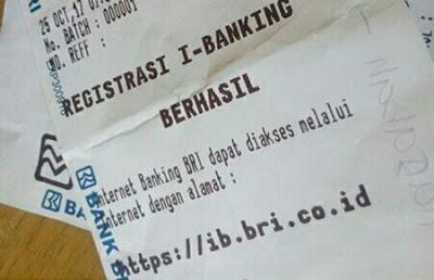 registrasi internet banking bri lewat atm