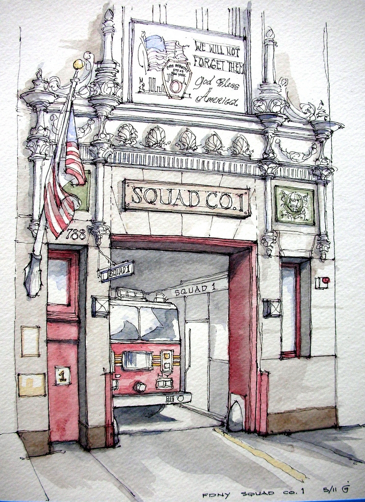 01-FDNY-Squad-Co-1-James-Anzalone-Freehand-Sketches-of-Park-Slope-Brooklyn-USA-www-designstack-co
