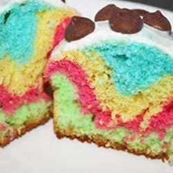 easy rainbow cupcakes DIY