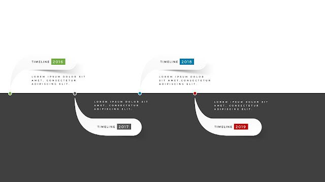 Horizontal timeline for PowerPoint Template Type B Second Slide