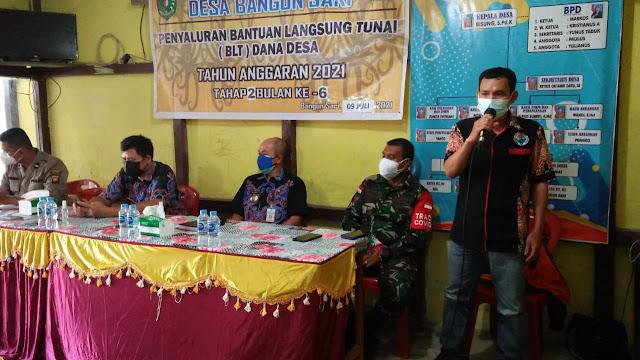 Penyaluran BLT Dana Desa Tahap II Bulan  Juni Tahun 2021 di Desa Bangun Sari