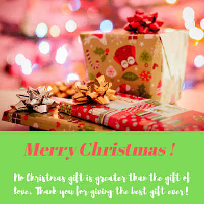 Merry Christmas Gift Wishes