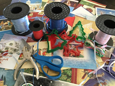 Materials to make homemade gift tags