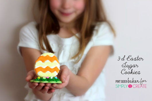 3D Easter Egg Cookies for Simply Create