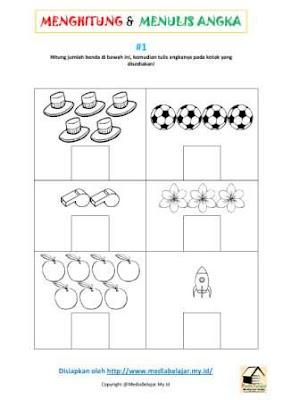 Menghitung Jumlah Benda dan Menuliskan Angkanya Bagian 1