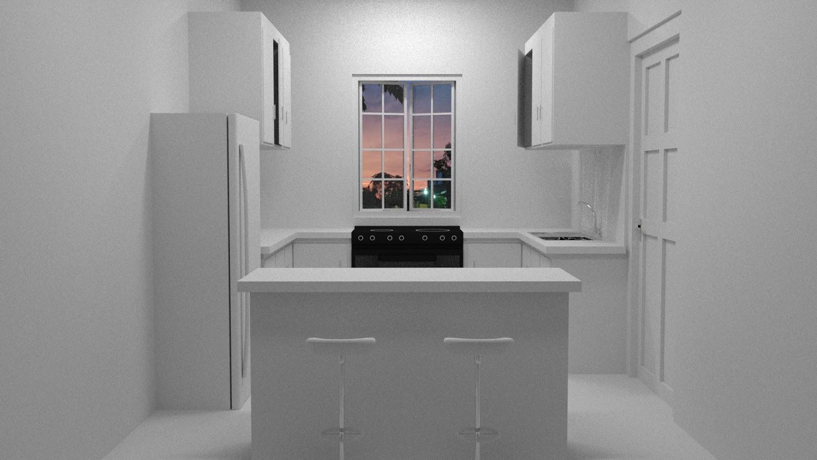 Free 3D Kitchen Set .blend file