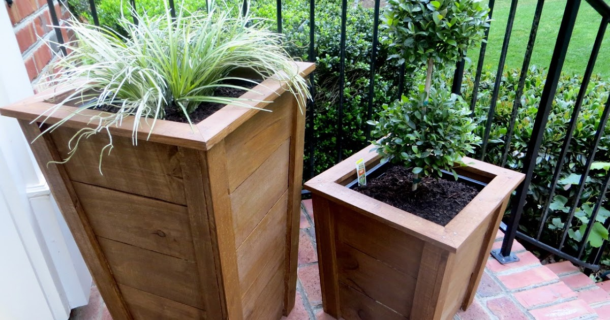 Decorative Planter Boxes Impressive Diy Tutorial  Decorative Wood Planter Boxes  The Project Lady Design Decoration