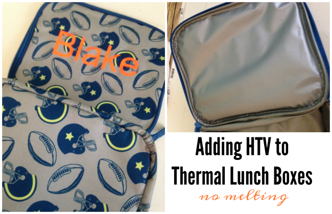 How to put heat transfer vinyl on insulated lunch boxes and applying heat transfer vinyl to backpacks works the same way you want about 10 seconds of low heat and medium pressure the least amount of heat fandeluxe Image collections