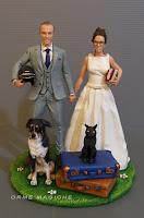 cake topper torta nozze personalizzato con animali e domestici personalizzazioni per matrimonio a temaorme magiche