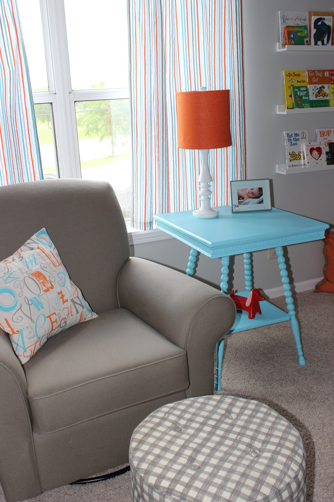 We Recently Finished This Project Where We Added A Dormer To The Home: Project Nursery:Quick & Easy Aqua End Table Makeover