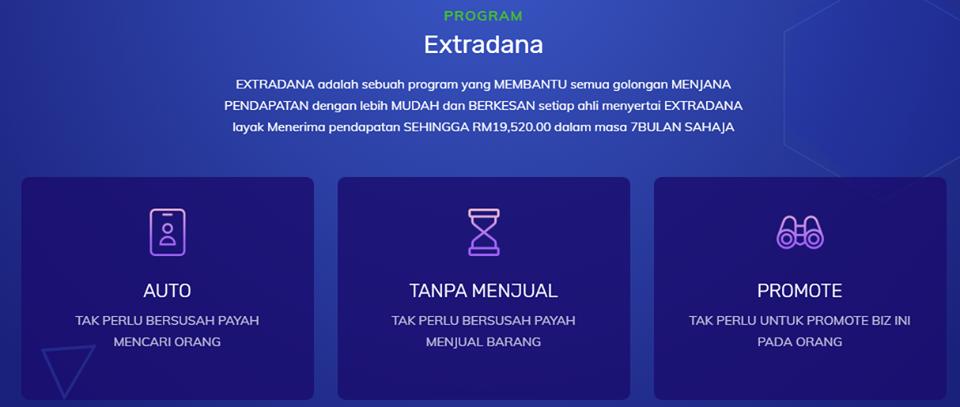 Extradana:  Jana Pendapatan Pasif RM19,520 Tanpa Menaja Dalam Masa 7 Bulan