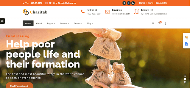 Nonprofit Fundraising & Charity WordPress Themes With Donation System    Nonprofit Charity