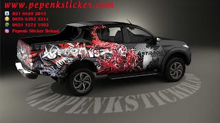 Mobil,Mitsubishi,Mitsubishi strada Triton.,cutting sticker Mobil,Cutting Sticker Bekasi,Cutting Sticker,Toyota Hilux,jakarta,Bekasi,