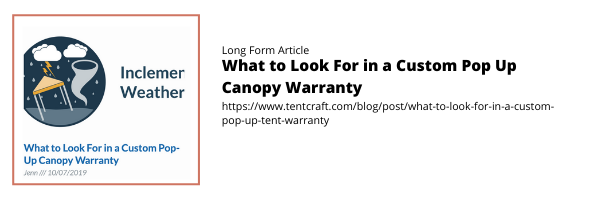 What to Look For in a Custom Pop Up Canopy Warranty