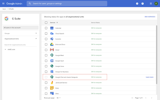 Coming soon: Manage Google Chat and classic Hangouts Chat from one place in the Admin console 2