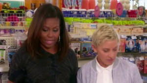 Ellen DeGeneres goes shopping with Michelle Obama (FLOTUS)