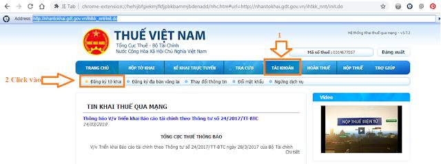 Hướng dẫn đăng ký tờ khai qua mạng