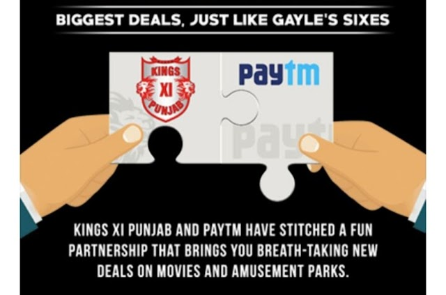 Paytm KXIP Offer – Get 100% Cashback upto Rs 1000 on Amusement Parks + Rs 200 Movie Voucher