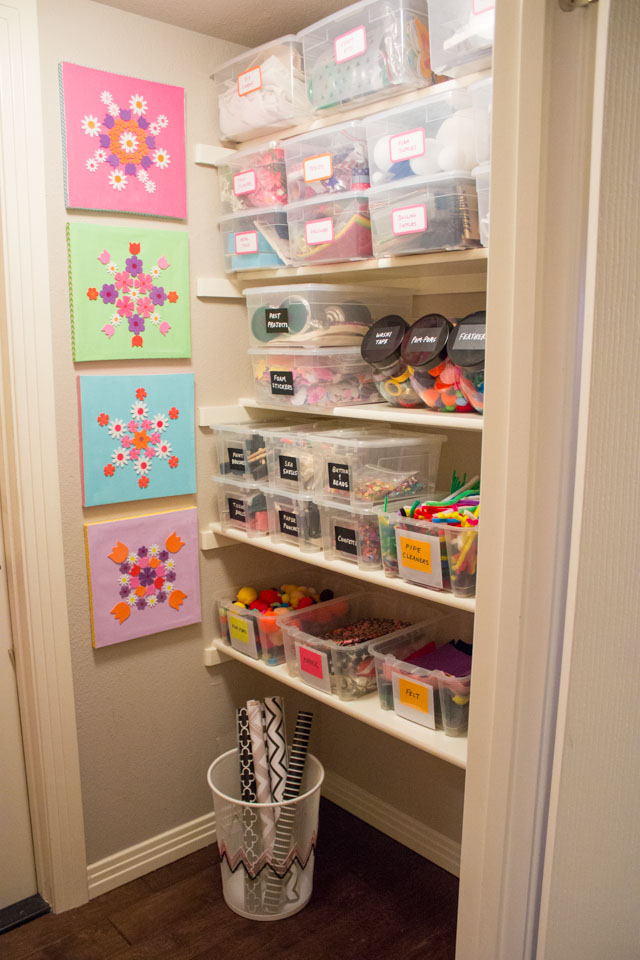 Create your own craft supply closet with these helpful tips!