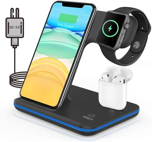 VESSTT Wireless Charger 3 in 1 Charging Station